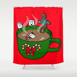 Relaxing Hot Cocoa Shower Curtain