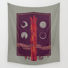 'Neath the Tower of Incomprehensible Sorcery Wall Tapestry