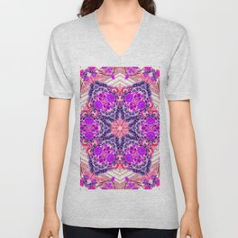 bouquet-lined bridges mandala Unisex V-Neck