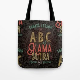 Kama Sutra Lessons Tote Bag