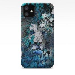 LION PRIDE ABSTRACT INK SPLASH PORTRAIT iPhone Case