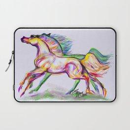Crayon Bright Horses Laptop Sleeve