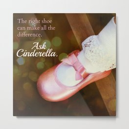 The Right Shoe Metal Print