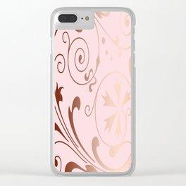 Rose Quartz Gold Komingo Clear iPhone Case