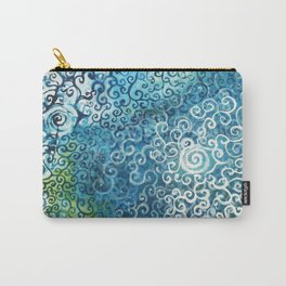 Swirly Deep Blue Sea Carry-All Pouch