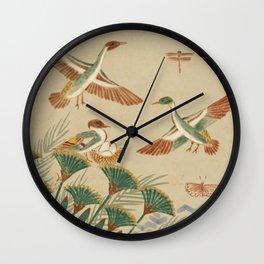Wildlife Along the Nile Wall Clock