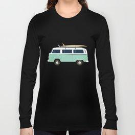 Summer surf bus pattern Long Sleeve T-shirt