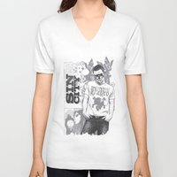 sin city V-neck T-shirts featuring Sin city by Tshirt-Factory