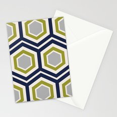 Hexagons and Zigzags Stationery Cards