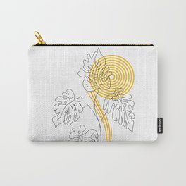 Monstera line Art Carry-All Pouch