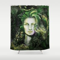 ireland Shower Curtains featuring Ireland by Holly Carton