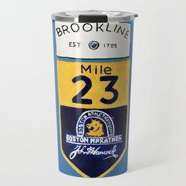 Boston Marathon, Brookline Mile Marker 23 Travel Mug
