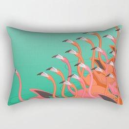Fresco of the flamingoes. Rectangular Pillow