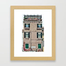 Venetian Windows Framed Art Print