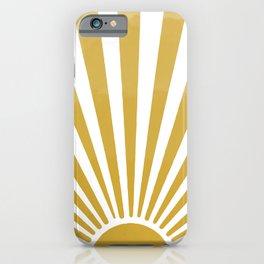 Mustard Sun iPhone Case