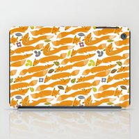 kitsune iPad Cases featuring Kitsune by Mamoizelle