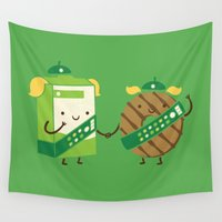cookies Wall Tapestries featuring Girl Scout Cookies by Philip Tseng