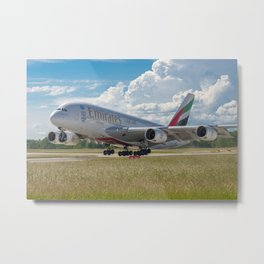 Airbus A380 Take-Off Metal Print