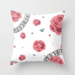 """Rose """" Pink """" Throw Pillow"""