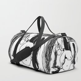 Female Nude - b&w Duffle Bag