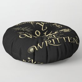 Change Your Mind & Your World Will Be Re-Written Black & Gold Floor Pillow