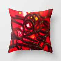 hook Throw Pillows featuring Hook Eye by Gary Lee Hutchings
