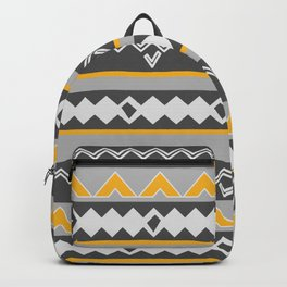 Gray stripes and native shapes Backpack