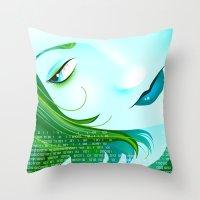 cyberpunk Throw Pillows featuring Cyberpunk by Sandra Höfer