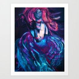 Fleeting Femme Fatale Art Print