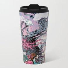 Journeying Spirit (deer) sunset Metal Travel Mug
