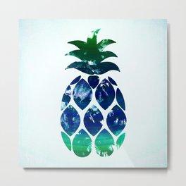 Watercolor pineapple Metal Print
