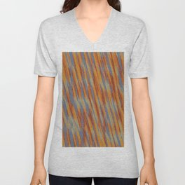 orange brown and blue painting texture abstract background Unisex V-Neck