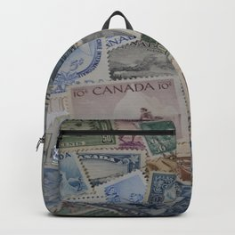 Canadian Pride Vintage Postage Stamp Collection From Canada Backpack