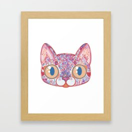 Chromatic Cat I Framed Art Print
