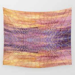 Webbed Sunset Wall Tapestry