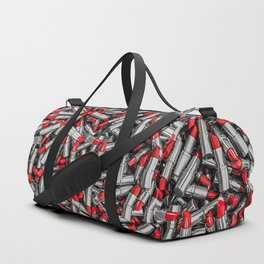 Lipstick chrome / 3D render of red chrome lipsticks Duffle Bag