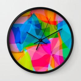 Paper Craft Tissues Wall Clock