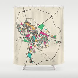 Colorful City Maps: Astana, Kazakhstan Shower Curtain