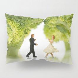 little world dancing under the broccoli green Pillow Sham