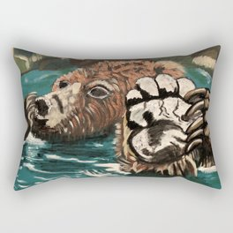 Chill Bear by Noelle's Art Loft Rectangular Pillow