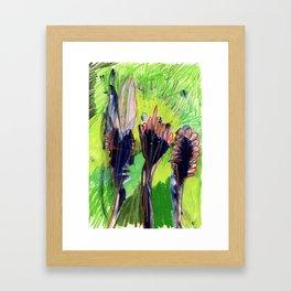 Uppity Flowers Framed Art Print