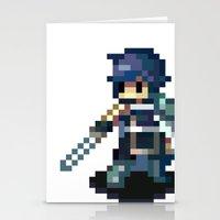 fire emblem awakening Stationery Cards featuring Chrom Pixels - Fire Emblem Awakening by MKwon
