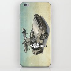 Stormtrooper in a DeLorean - waiting for the car club iPhone Skin