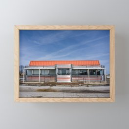 An Abandoned Diner Framed Mini Art Print