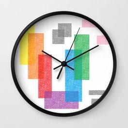 CRAYOLA ABSTrACT CRAYON ART Wall Clock