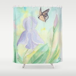 Once upon a time, in a watercolor garden Shower Curtain