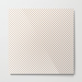 Toasted Almond Polka Dots Metal Print