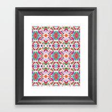 Watercolor Boho Dash 3 Framed Art Print