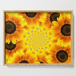 Spinning Sunflowers Serving Tray