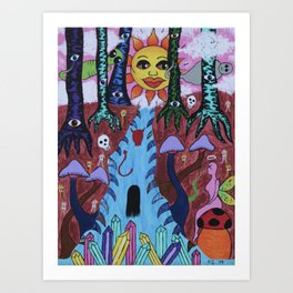 Deeper Into The Forest Art Print